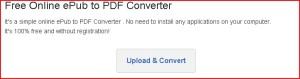 convertire file epub in pdf
