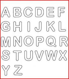alfabeto per bambini da colorare e stampare