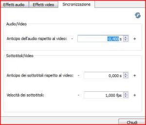 sincronizzare sottotitoli con vlc