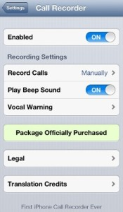 registrare telefonate iphone
