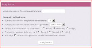anagrammi online