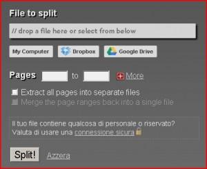 come dividere file pdf