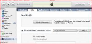 sincronizzare contatti iphone con gmail