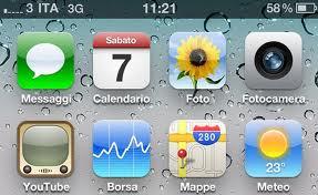 percentuale batteria su iphone
