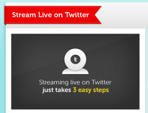 condividere webcam su twitter
